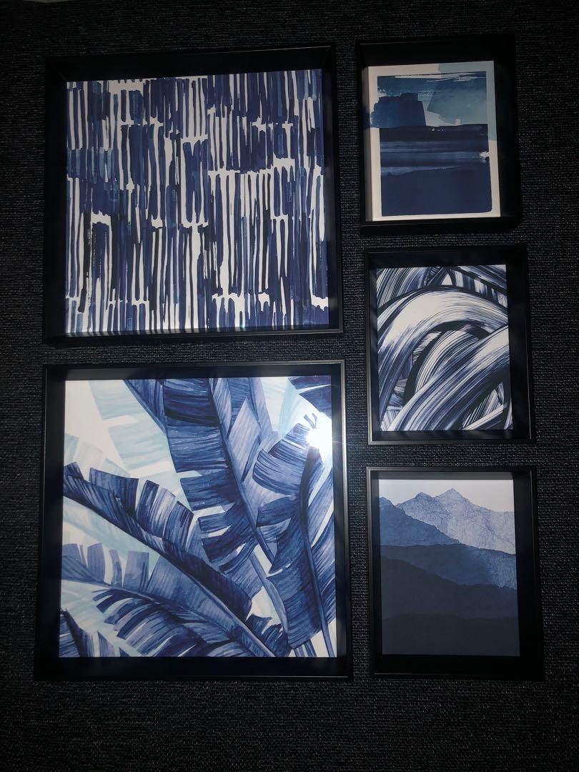 5 abstract art frames