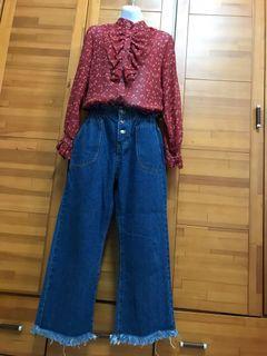全新上衣+牛仔褲(今年新款喔!)