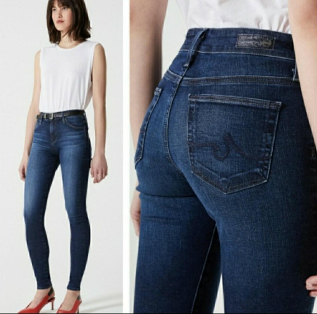 AG Adriano Goldschmied high-rise skinny jeans