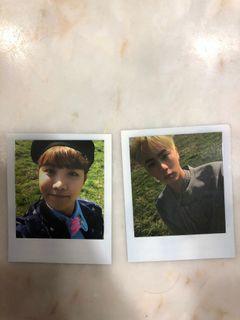 BTS Polaroid J-hope and Jin