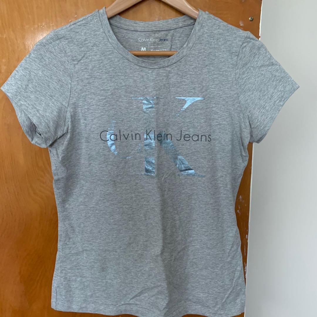 Calvin Klein grey short sleeve top