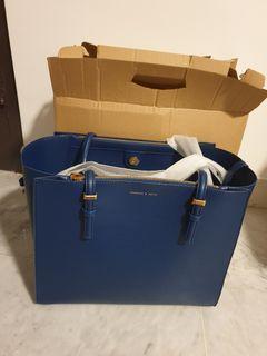 Charles & Keith Dark Blue handbag