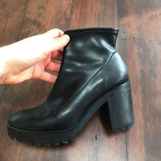 Chunky Zara ankle boots