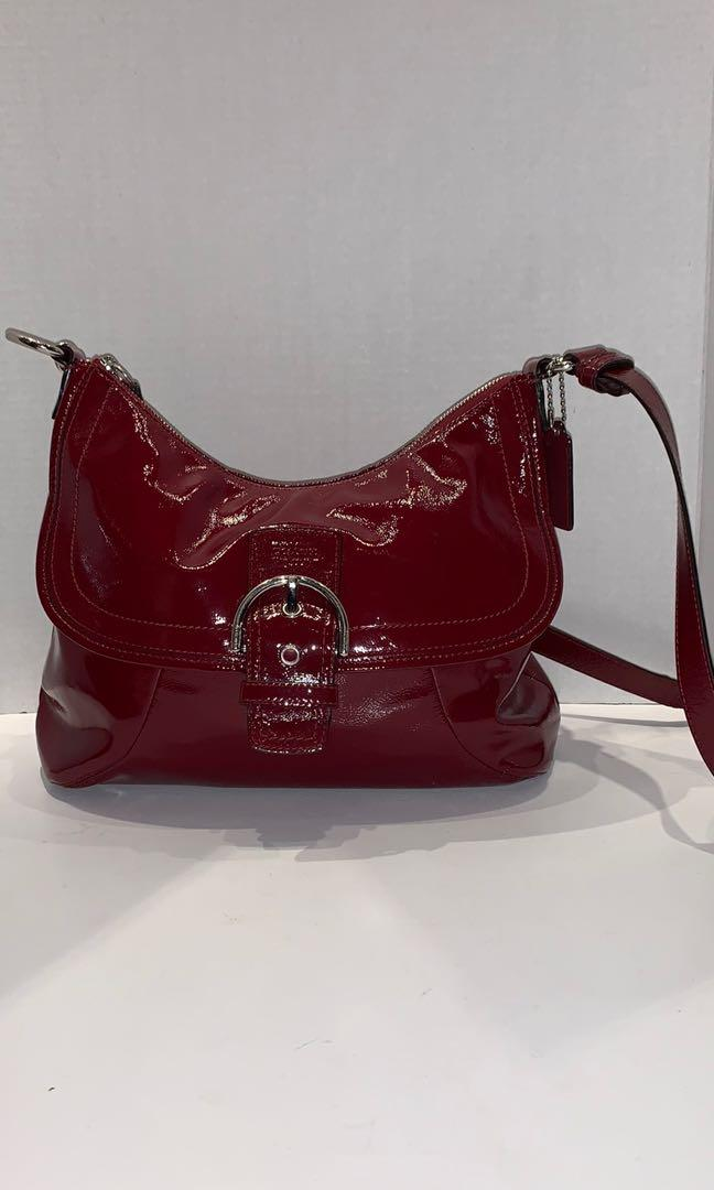 Coach Crossbody Patent Leather Bag
