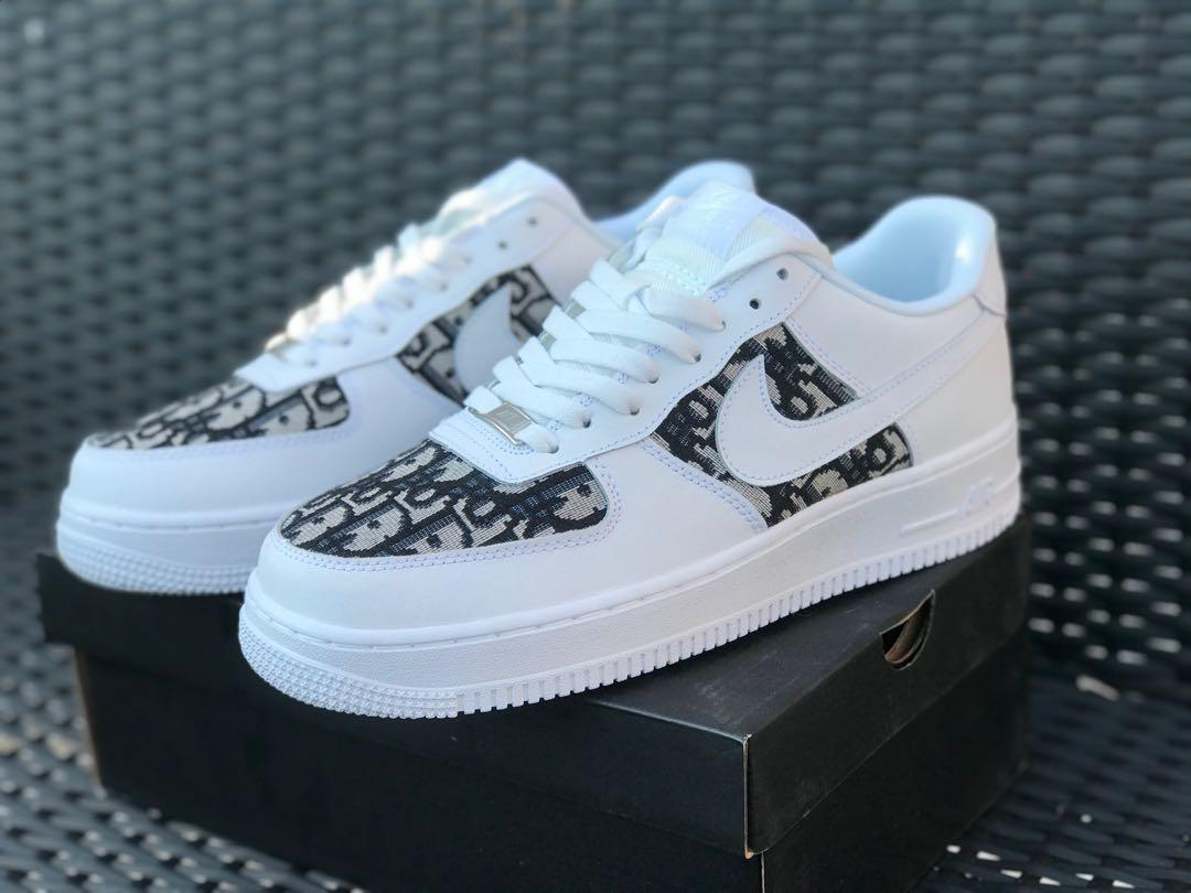 Dior inspired Custom Air Force 1  ( free delivery 🚚)