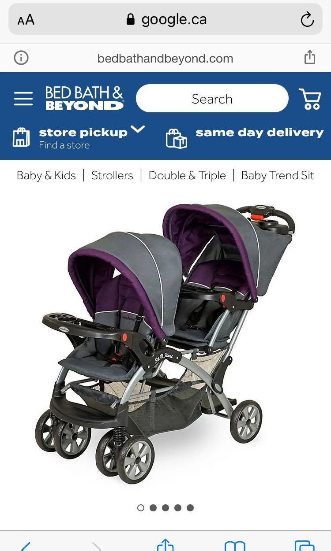 Elixer baby trend double stroller