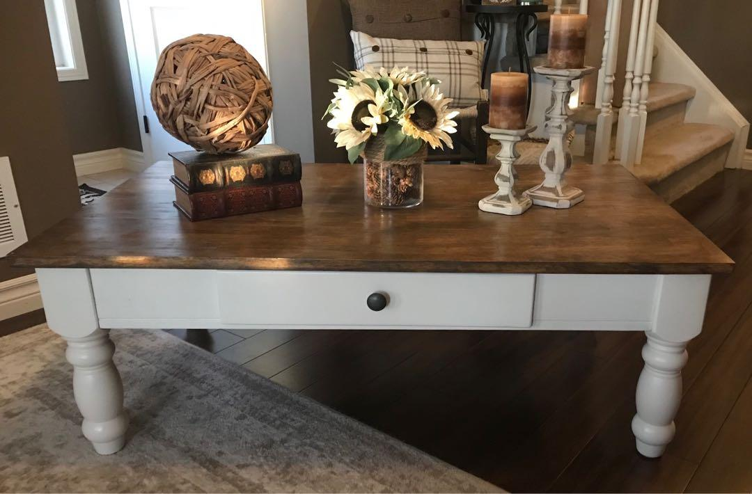 Refurbished Farm style coffee table
