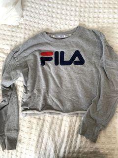 FILA cropped raw hem jumper