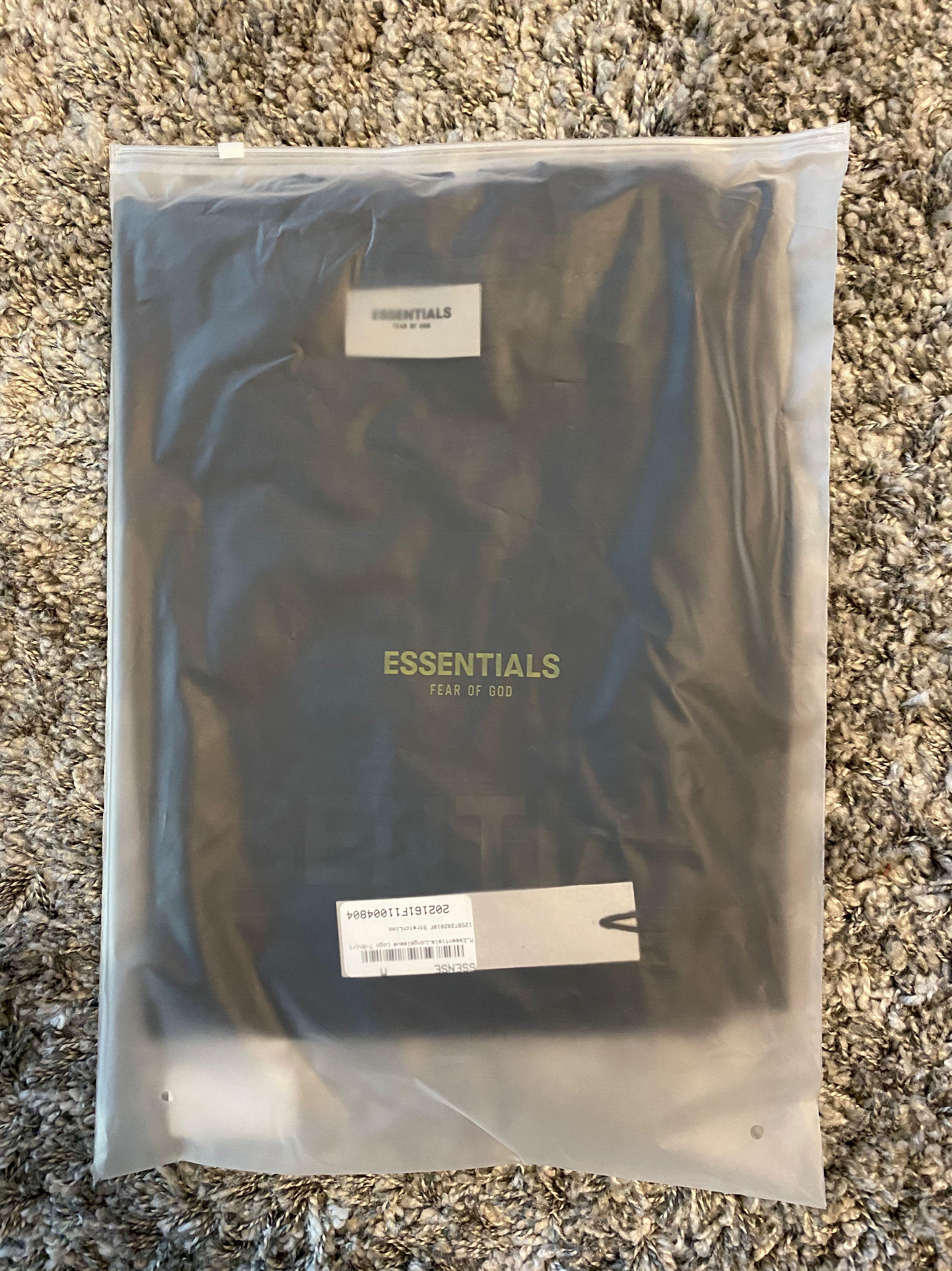 FOG Essentials Black Long Sleeve Tshirt