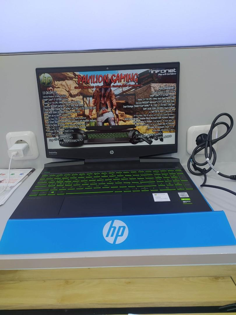 HP 15 DK1041TX i7 10750H 8GB 256 GB HDD 1TB GTX1650 4GB 15.6 Inch W10