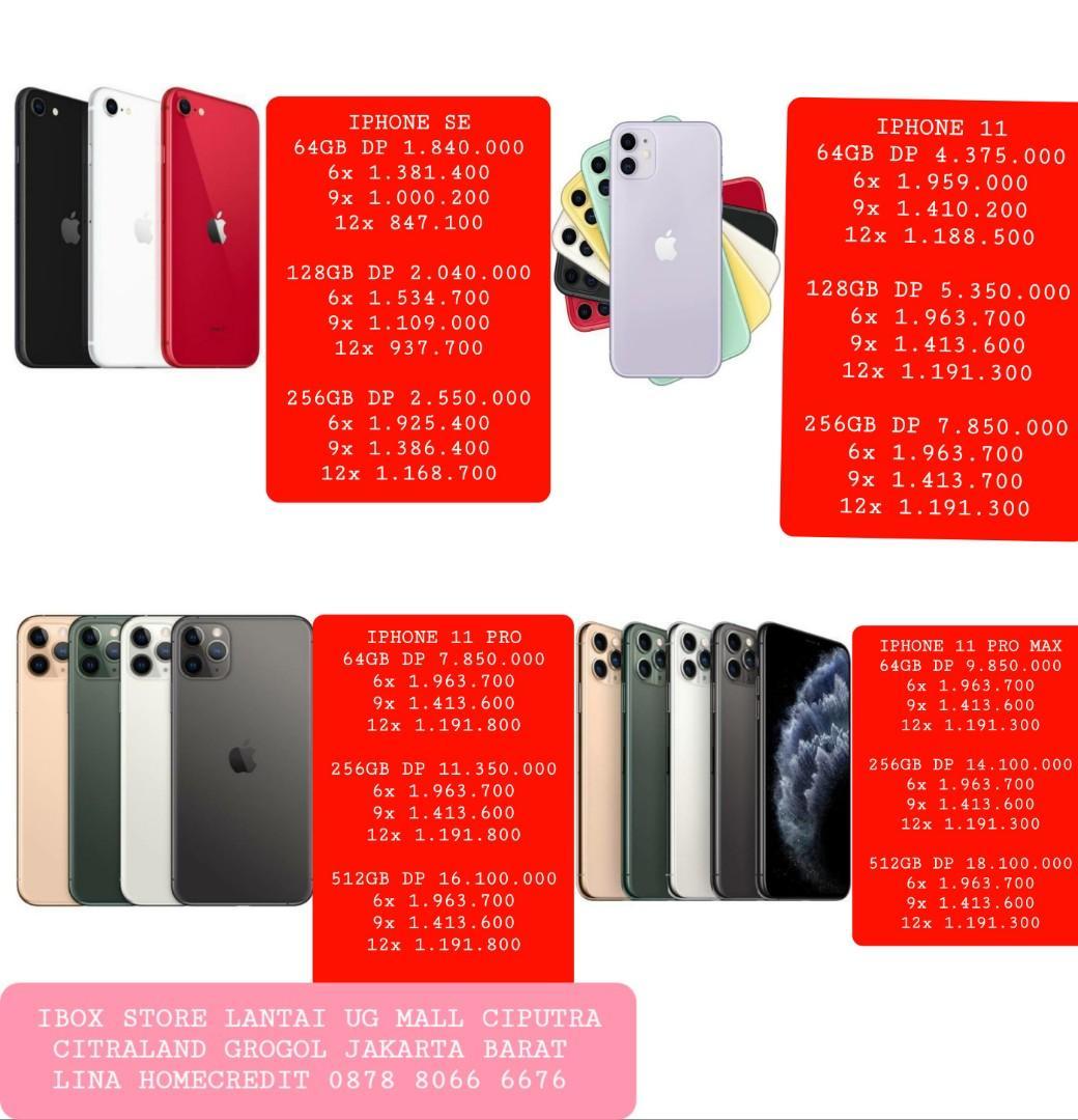 Iphone SE 128GB Garansi Ibox Cicilan By homecredit