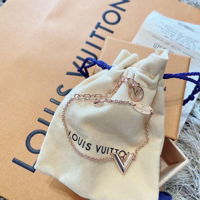 LV 經典v型手鍊 玫瑰金 英國現貨5條