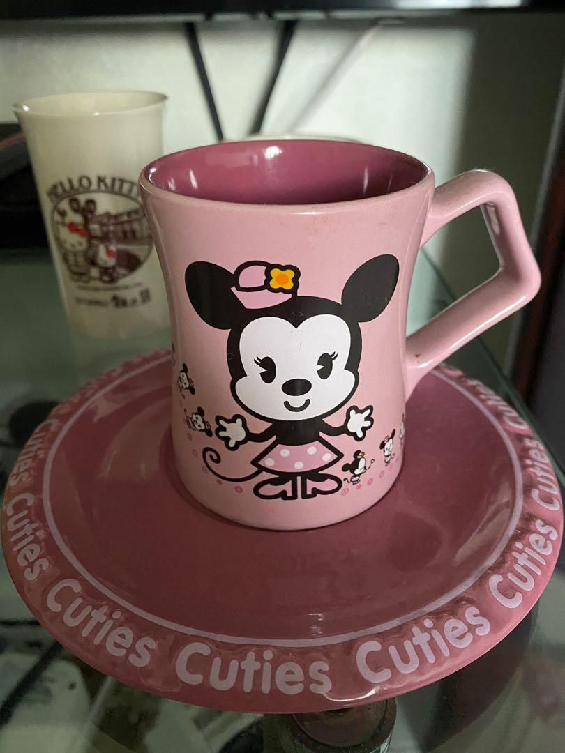 Minnie Mouse Cup Saucer For Sale Disney Display Mugs Home Appliances Kitchenware On Carousell