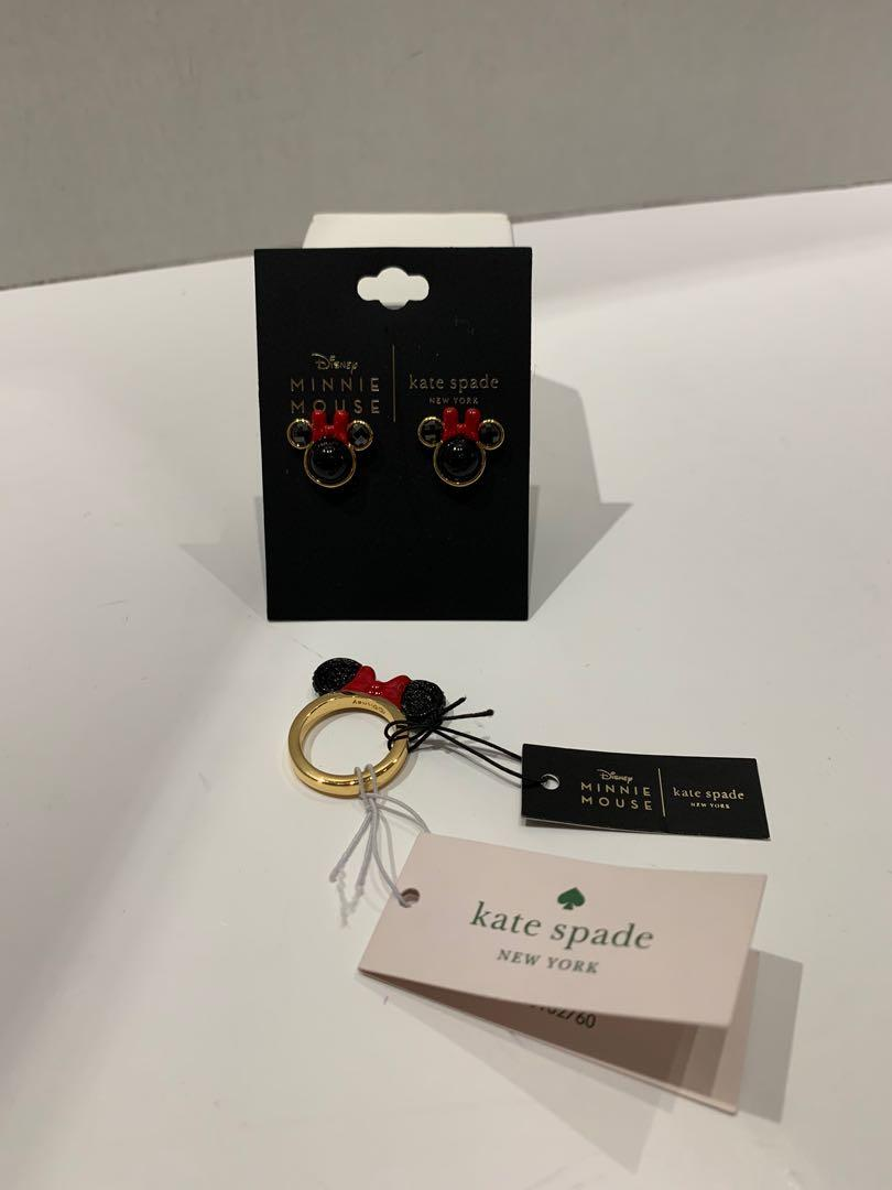 NWT Kate Spade ♠️ Minnie Mouse Ring & Earrings