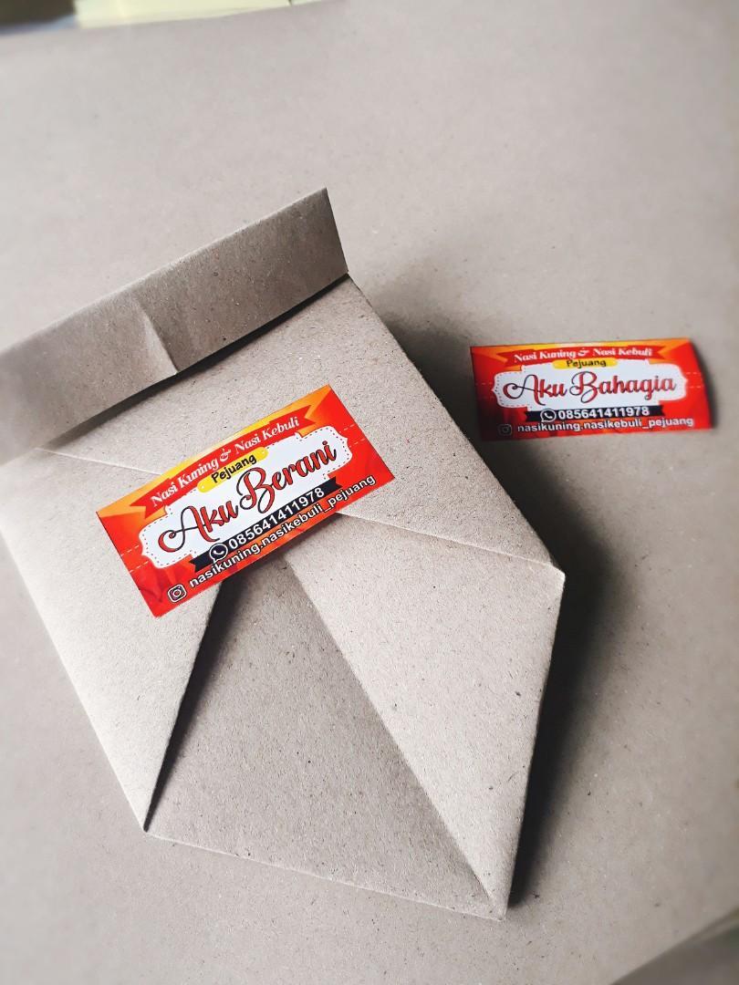 Packaging Kertas Nasi Unik