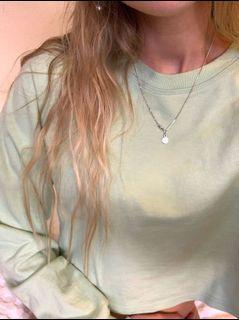 Pastel lime cropped jumper