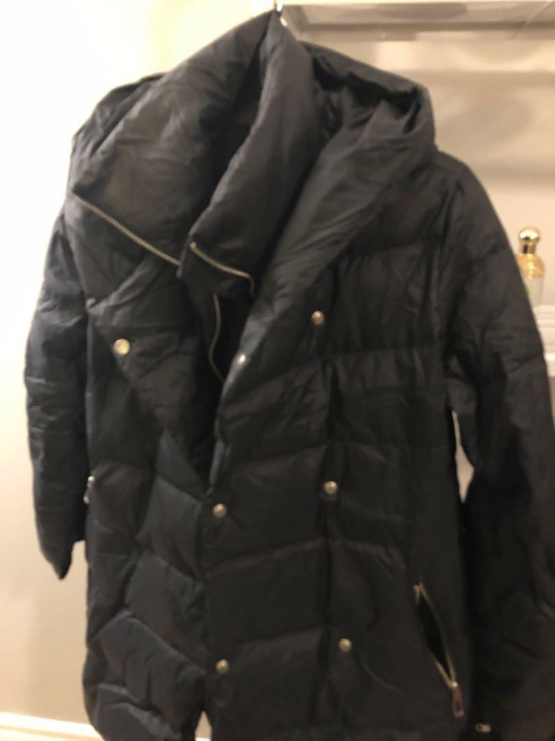 Small Dark navy Zara puffer jacket