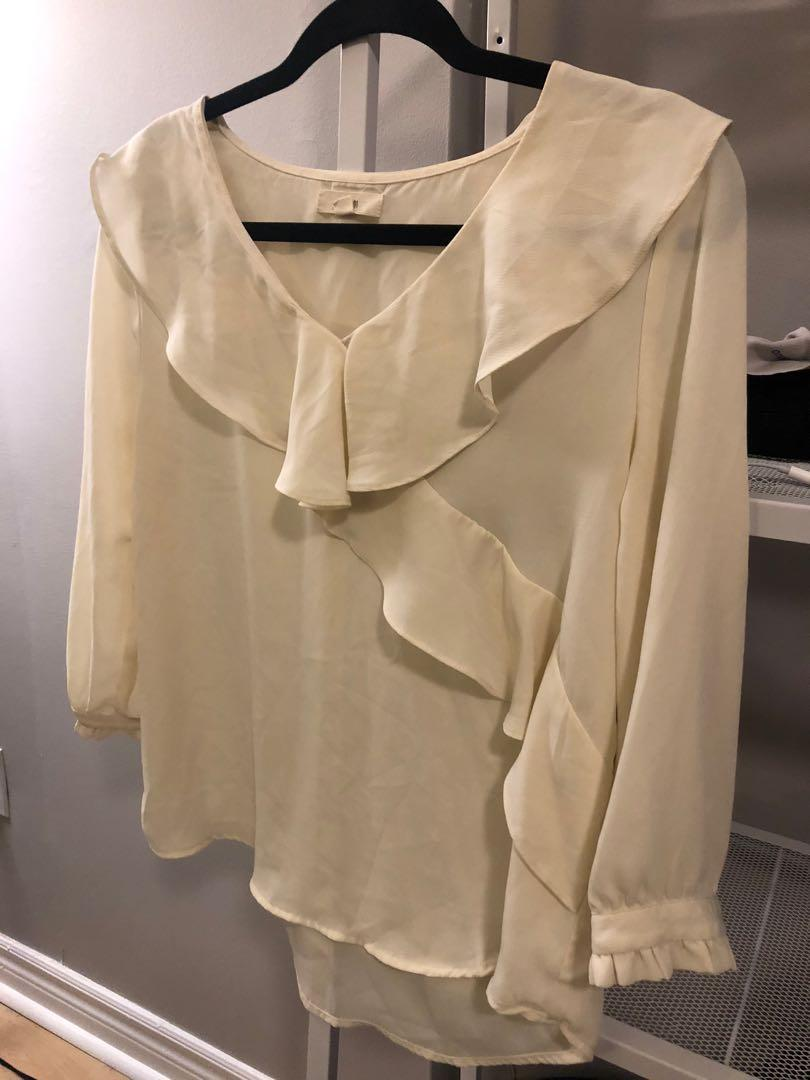 Small Frilly sheer blouse