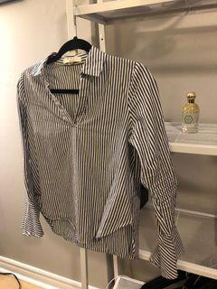 Small Pin stripe boho sleeve blouse