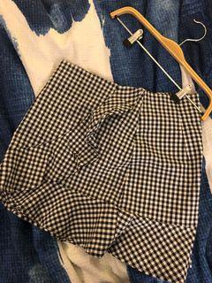 Small plaid skirt