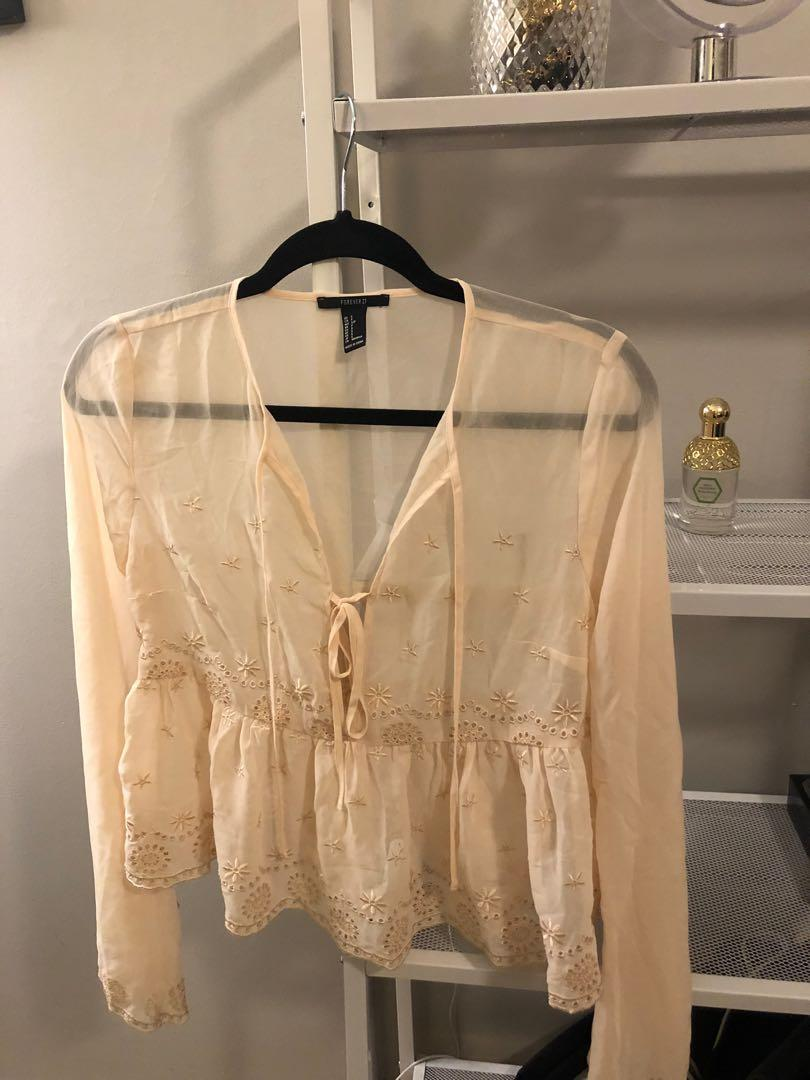 Small Sheer peach/beige top