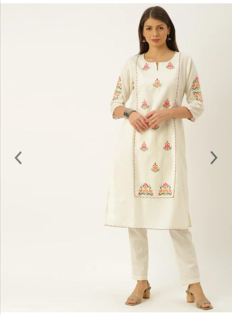 Soch Women Off-White Embroidered Kurta with Trousers, Product Code: 11864930