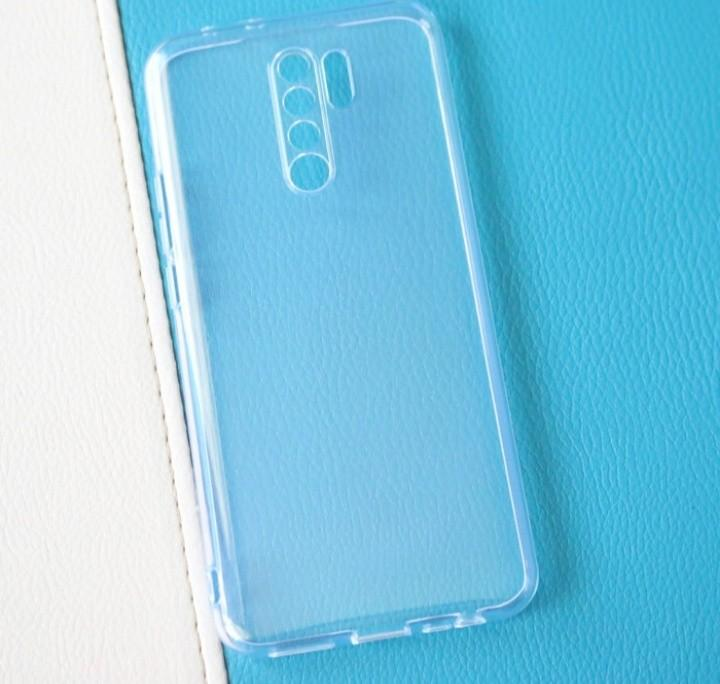 Soft back case jelly bening clear 2.0 mm tebal Redmi 9