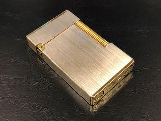 ST Dupont gold plated and brushed palladium lighter