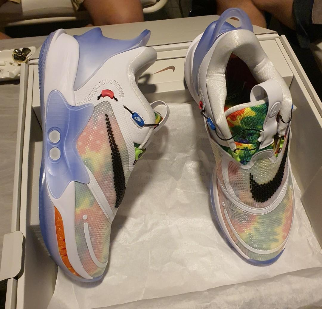 Us 12 Nike Adapt Bb 2 0 Tie Dye Air Mag Jordan Dunk Men S Fashion Footwear Sneakers On Carousell