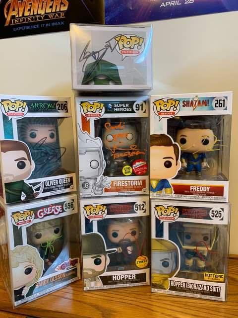 Various Signed Funko POP! vinyls