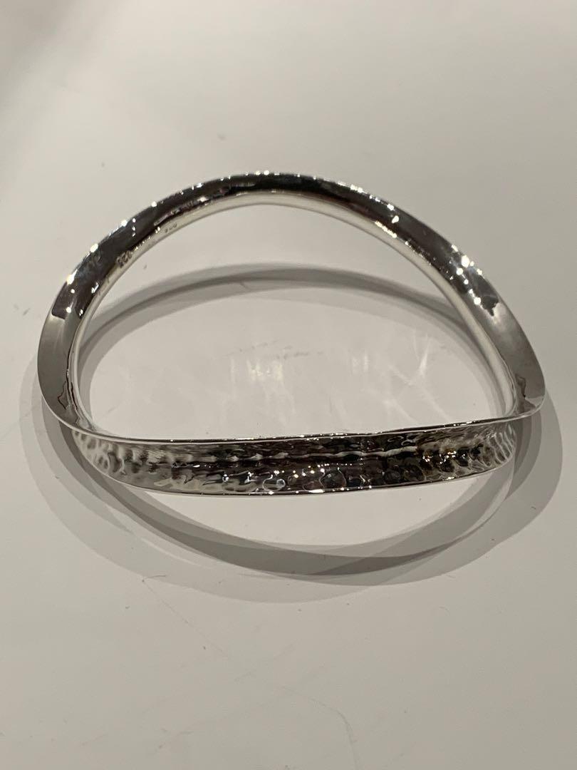 Vintage Custom Hammered Silver Bangle
