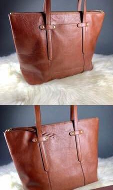 Women's Fossil Felicity Brown Leather Tote Bag