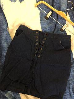 Xs-sm blue skirt