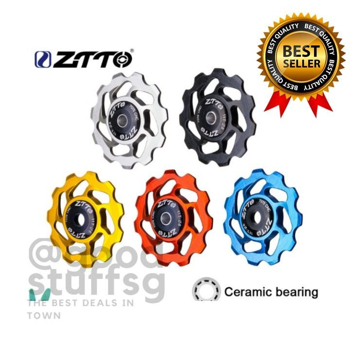 11T MTB Road Bicycle Rear Derailleur Jockey Wheel Ceramic Bearing Pulley Guide