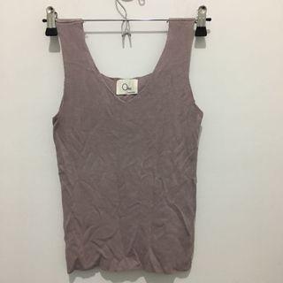 全新紫色優雅針織背心