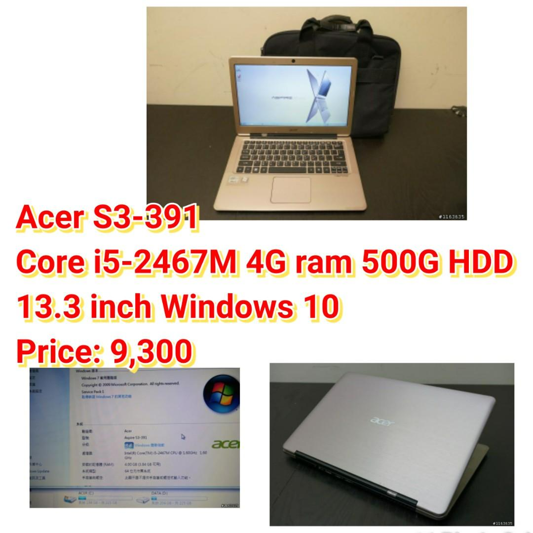 Acer S3-391 Core i5-2467M