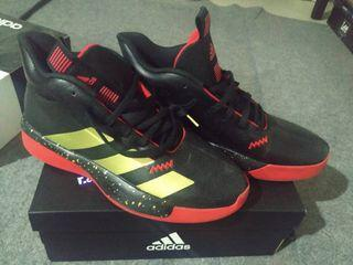 ADIDAS Basketball Shoes Pro Next (black, red and gold color)
