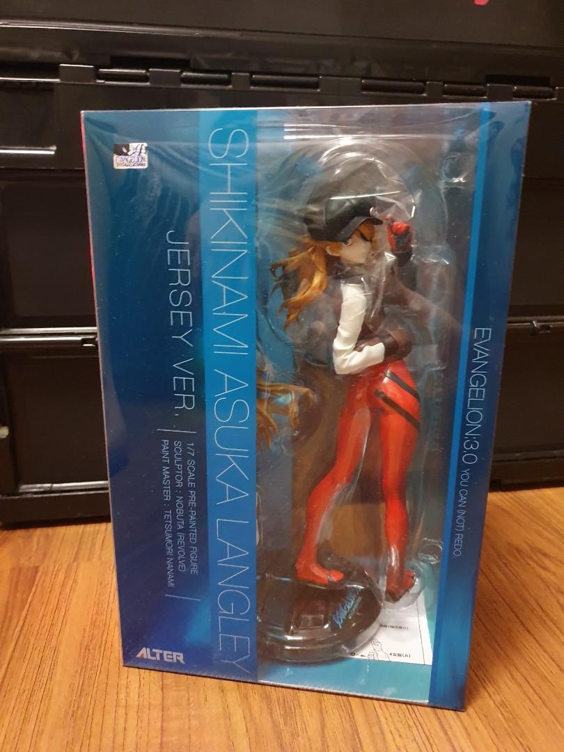 EVA Evangelion Shikinami Asuka Langley Jersey Ver 1//7 PVC Figure New In Box