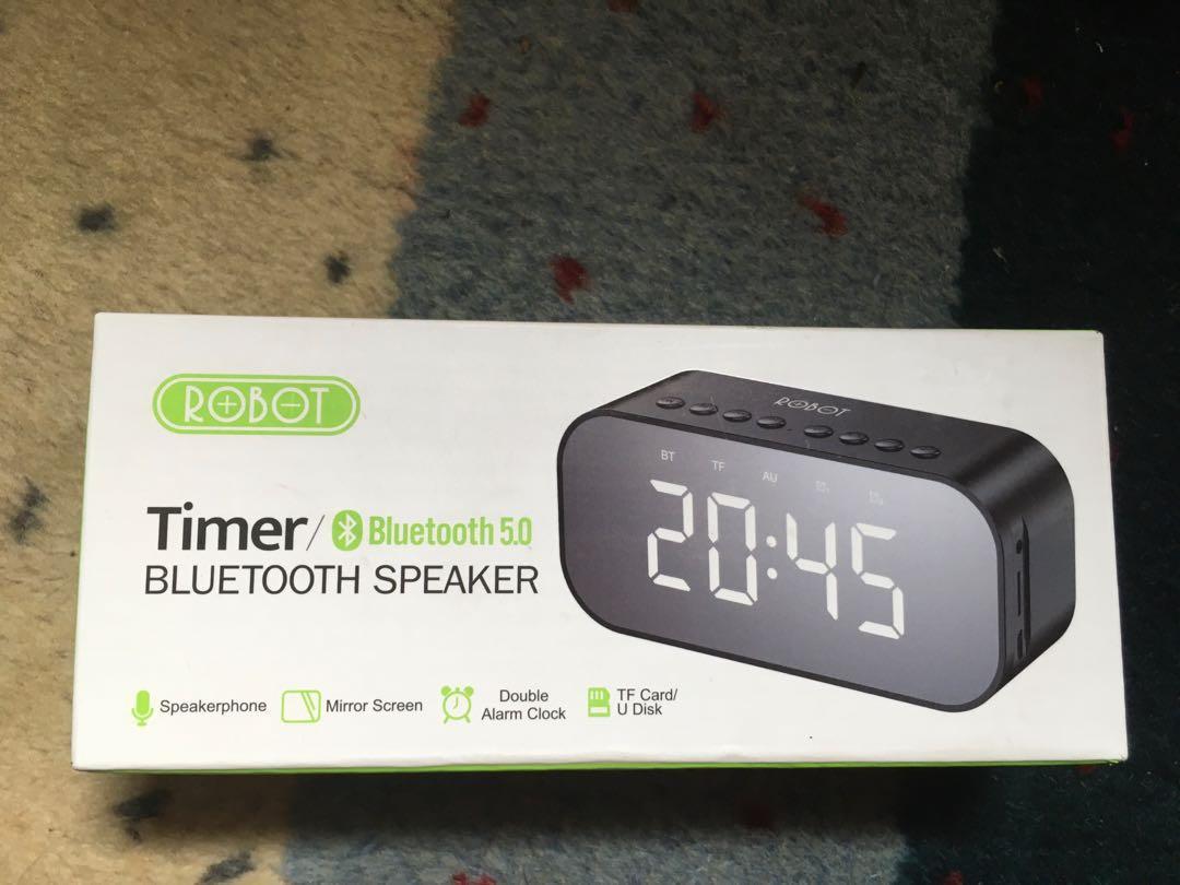 Bluetooth Speaker Robot with digital clock