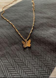 Butterfly 14k gold plated brass Necklace
