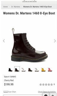 Dr. Martens 1460 cherry red boots sz. 6
