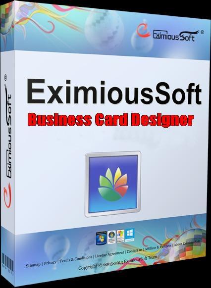 EximiousSoft Business Card Designer - Aplikasi Pembuat ID Card Kartu Nama di Windows