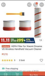 RFS: Wrong buy — HEPA Filter replacement for Xiaomi Dreame V9 Wireless Handheld Vacuum Cleaner