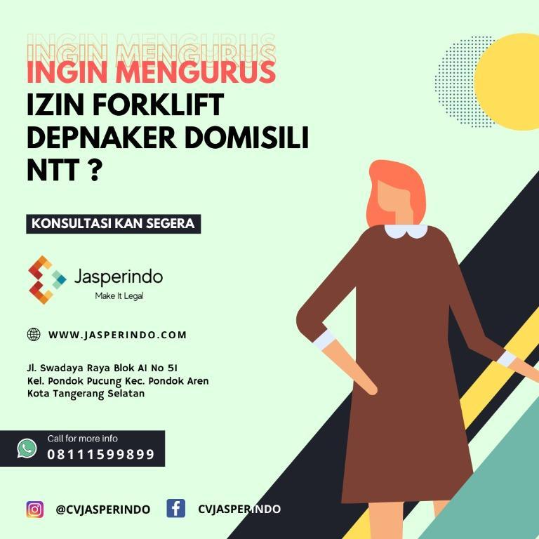 IJIN FORKLIFT DEPNAKER NTT
