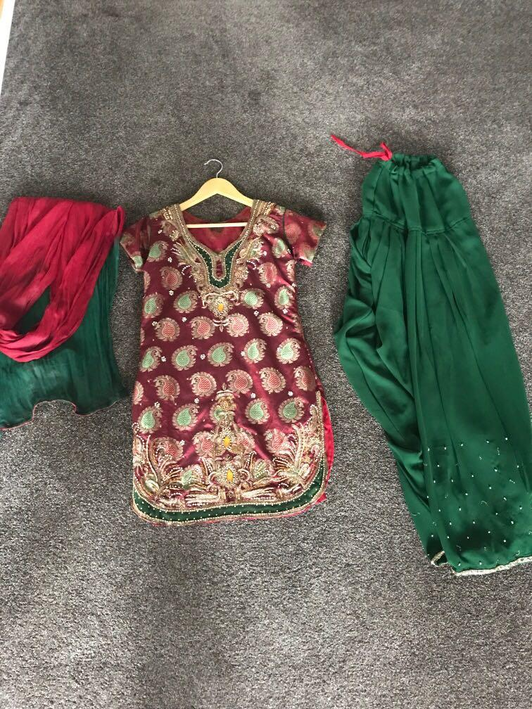 Indian outfit size 8-10 full set