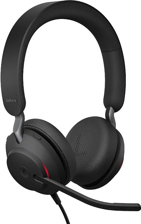 Jabra Evolve2 85 MS Wireless Headphones with Link380a, Stereo, Black