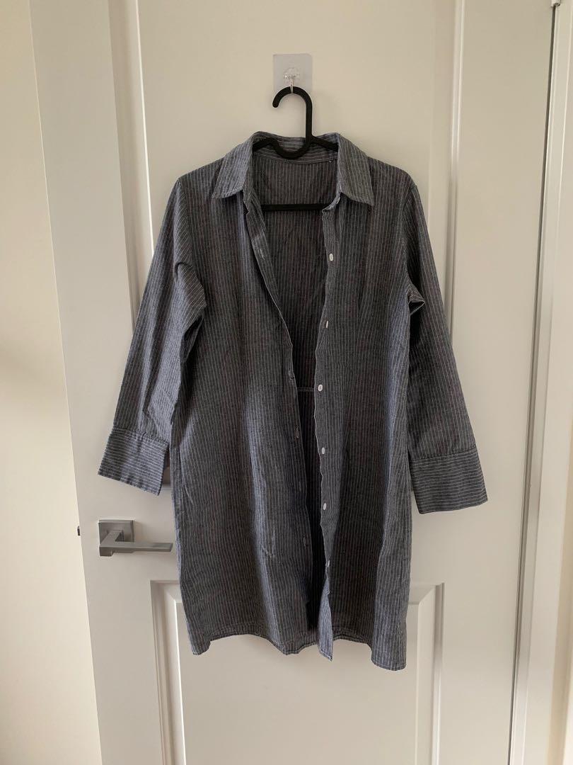 Long button-down shirt