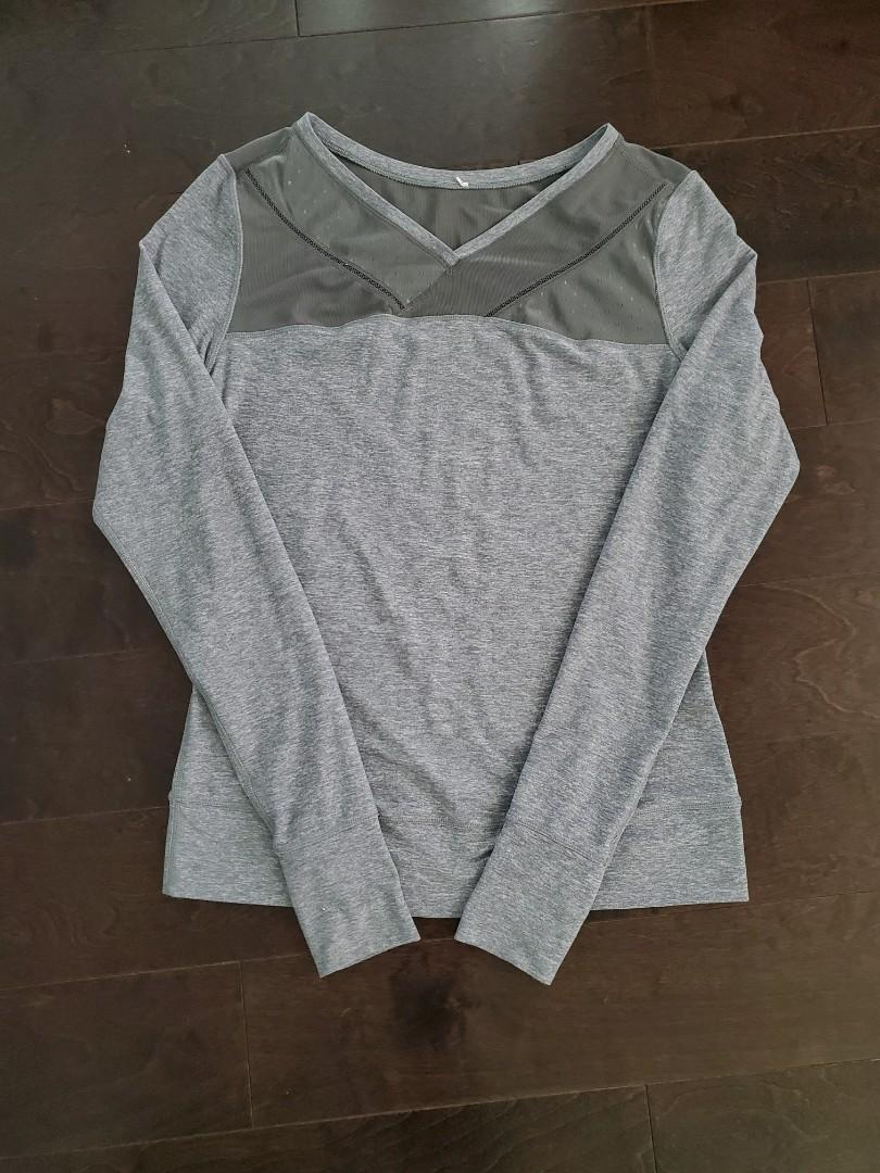 Lululemon Grey Long Sleeve Shirt - Size 6