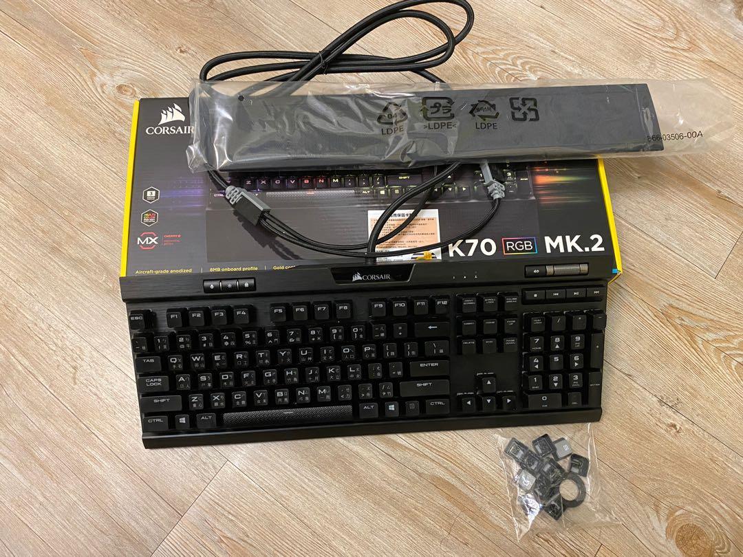 海盜船 Corsair K70 MK2 RGB 茶軸 機械式鍵盤 黑