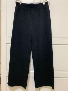 全新 NET 黑色長版落地褲 寬褲#我媽的